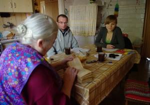 Wywiad z panią Krystyną Misiak. Fot. Basia Hołub.